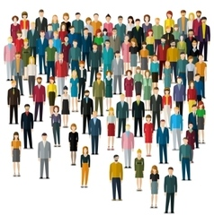Concept of business people vector image