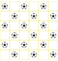Football Ball Yellow Grid White Background vector image vector image