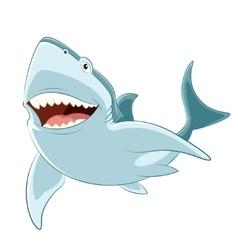 Happy cartoon shark vector image
