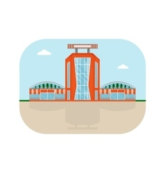 shopping center orange facade vector image