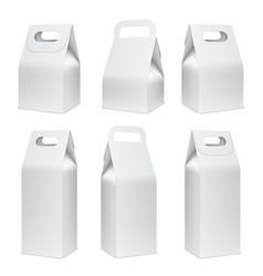cardboard food boxes vector image