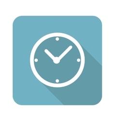 Clock square icon vector