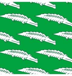 Green crocodile seamless pattern vector image vector image