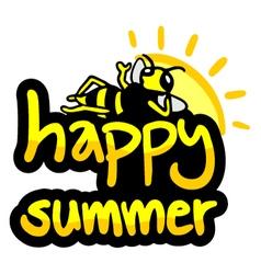 Happy summer symbol vector image vector image