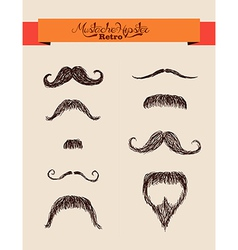 Hipsters elements mustaches set EPS10 file vector image