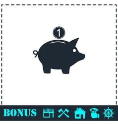 Moneybox icon flat vector image vector image