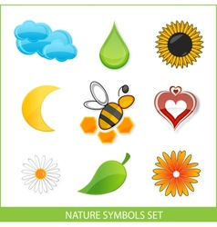 Nature eco symbols vector image vector image