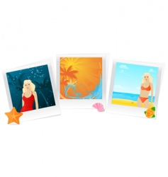 summer photo memories collage vector image