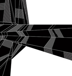 abstract geometric background techno style black vector image vector image