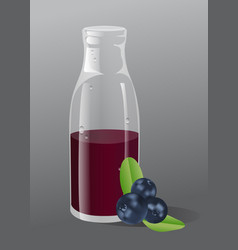 blueberry juice vector image