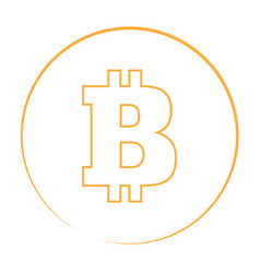 bitcoin currency logo vector image vector image