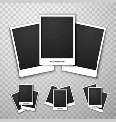 foto frame collage on a transparent background vector image