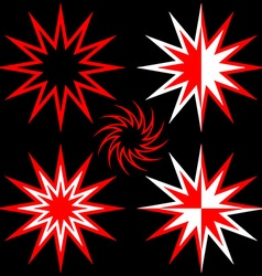 Set of five stars for the elements of the logo vector image vector image
