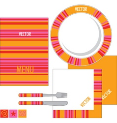 template design for restaurant vector image vector image