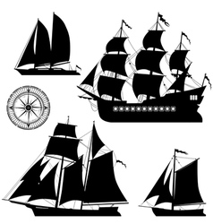 Yachts vector image