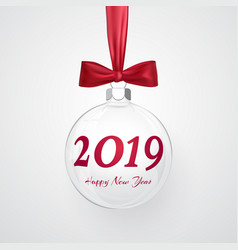 2019 christmas and new year background vector image