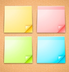 4 Colorful Stick Notes vector