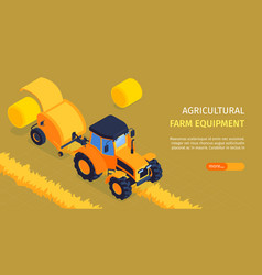 Agricultural horizontal banner vector