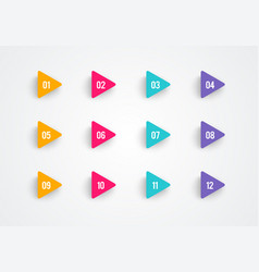 arrow bullet point triangle flags vector image