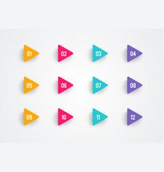 arrow bullet point triangle flags vector image