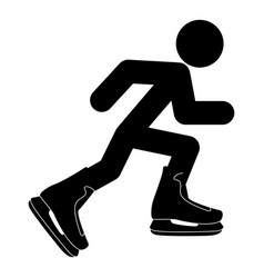 athlete skater in skating icon black color flat vector image