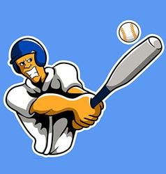 baseballer vector image
