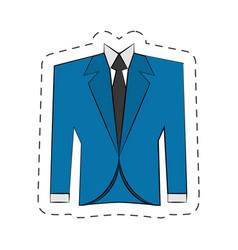 Blazer suit jacket man vector
