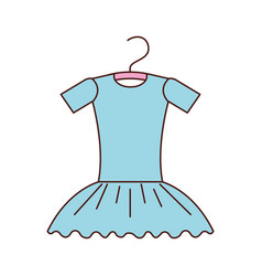 blue tutu ballet on the hanger costume vector image