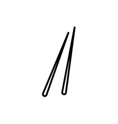 chopsticks icon vector image