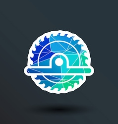 Circular Saw icon button logo symbol concept vector image