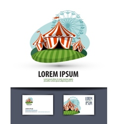 circus logo design template show or entertainment vector image