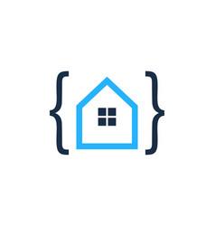 Code house logo icon design vector