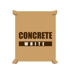 concrete white bag icon vector image