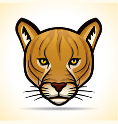 Cougarr head graphic design vector