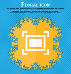 Crops and registration marks icon floral flat vector