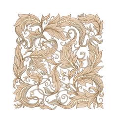 decorative elements in baroque rococo victorian vector image