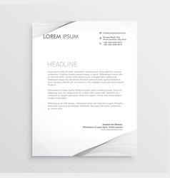elegant gray letterhead design vector image