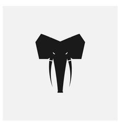 Elephant head face vintage logo design vector