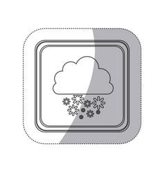 emblem cloud snowing icon vector image