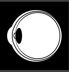 eyeball white color icon vector image