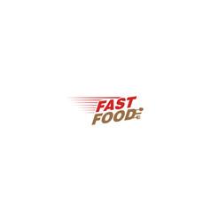 Fast food label logo design simple modern logo vector