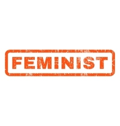 Feminist Rubber Stamp vector