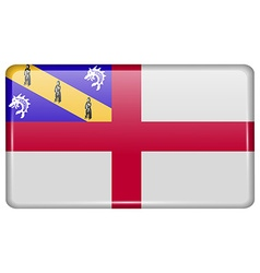 Flags Herm in the form of a magnet on refrigerator vector