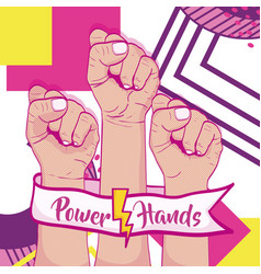 Girl power memphis styles vector