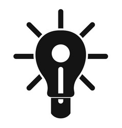 Glowing light bulb icon simple vector