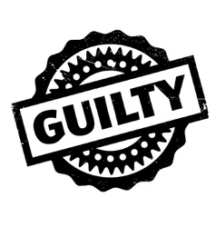 Guilty rubber stamp vector