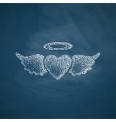 Heart angel icon vector