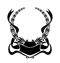 Heraldic laurel wreath vector image vector image