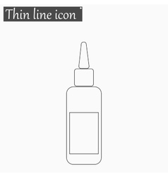 Image of a vaccine vial icon Style thin vector