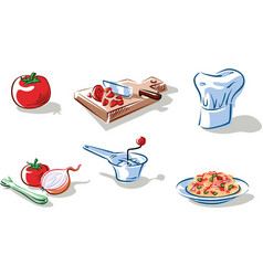 Ingredients to prepare a plate vector